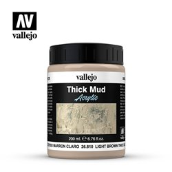 Vallejo 26.810 Light Brown Thick Mud 200ml