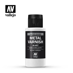 Vallejo 26.657 Metal Color Vernis Metal - Metal Varnish Gloss 60ml