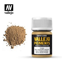 VALLEJO 73.103 Pigments Dark Yellow Ochre Color 35 ml.