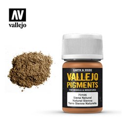 VALLEJO 73.105 Pigments Natural Sienna Color 35 ml.