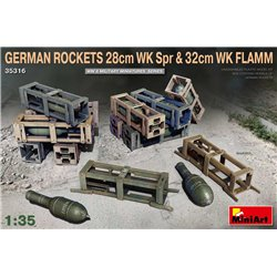 MINIART 35316 1/35 German Rockets 28cm WK Spr & 32cm WK Flamm