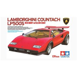 TAMIYA 25419 1/24 Lamborghini Countach LP500S Red Body w/Clear Coat