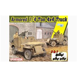 DRAGON 6727 1/35 Armored 1/4-Ton 4x4 Truck w/.50-cal Machine Gun