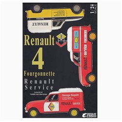 EBBRO 25012 1/24 Renault 4 Fourgonnette Renault Service