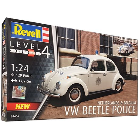 REVELL 07666 1/24 VW Beetle Police Netherlands and Belgium