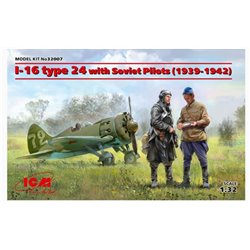 ICM 32007 1/32 I-16 type 24 with Soviet Pilots(1939-42) Limited