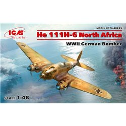 ICM 48265 1/48 He 111H-6 North Africa,WWII German Bombe Limited