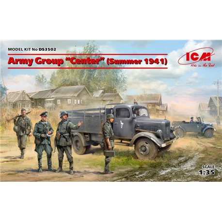 ICM DS3502 1/35 Army GroupCenter(Summer 1941)(Kfz1,Typ L3000S,German Infantry(4 figures)Ger.Drivers