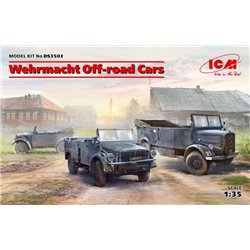 ICM DS3503 1/35 Wehrmacht Off-road Cars (Kfz1,Horch 108 Typ 40, L1500A)