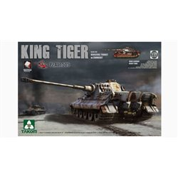 TAKOM 2047S 1/35 Sd.Kfz.182 King Tiger Henschel Turret w/Zimmerit Pz.Abt.505*