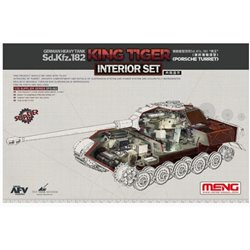 "MENG SPS-062 1/35 Sd.Kfz.182 ""King Tiger"" (Porsche Turret) Interior Set For TS-037*"