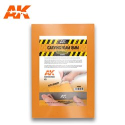 AK INTERACTIVE AK8093 Carving Foam 8 Mm A5 Size (228 X 152 Mm)
