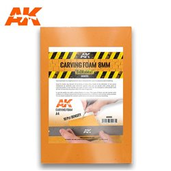AK INTERACTIVE AK8095 CARVING FOAM 8MM A4 SIZE (305 X 228 MM)