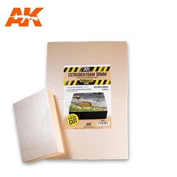 AK INTERACTIVE AK8100 Extruded Foam 30 Mm A4 Size Already Cut (4 Units)