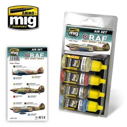 AMMO BY MIG A.MIG-7225 RAF WWII DESERT COLORS 4x17ml