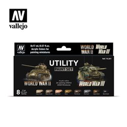 VALLEJO 70.201 Utility Paint Set WWII & WWIII 8x17ml