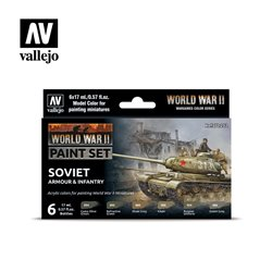 VALLEJO 70.202 WWII Soviet Armour & Infantry 6x17ml