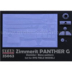 ATAK MODEL 35063 1/35 Zimmerit Panther G for Rye Field Model