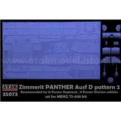 ATAK MODEL 35073 1/35 ZIMMERIT PANTHER D pattern 2 Set for MENG TS-038