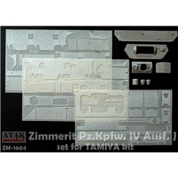 ATAK MODEL ZM-1604 1/16 ZIMMERIT Pz.Kpfw. IV J set fot TAMIYA kit