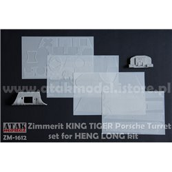 ATAK MODEL ZM-1612 1/16 ZIMMERIT KING TIGER Porsche Turret for HENG LONG kit