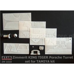 ATAK MODEL ZM-1610 1/16 ZIMMERIT for KING TIGER PORSCHE TURRET for TAMIYA
