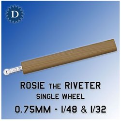 ROSIE THE RIVETER 075D 0.75mm Single Wheel (1/48 & 1/32)