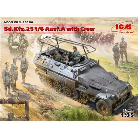 ICM 35104 1/35 Sd.Kfz.251/6 Ausf.A with Crew, Limited