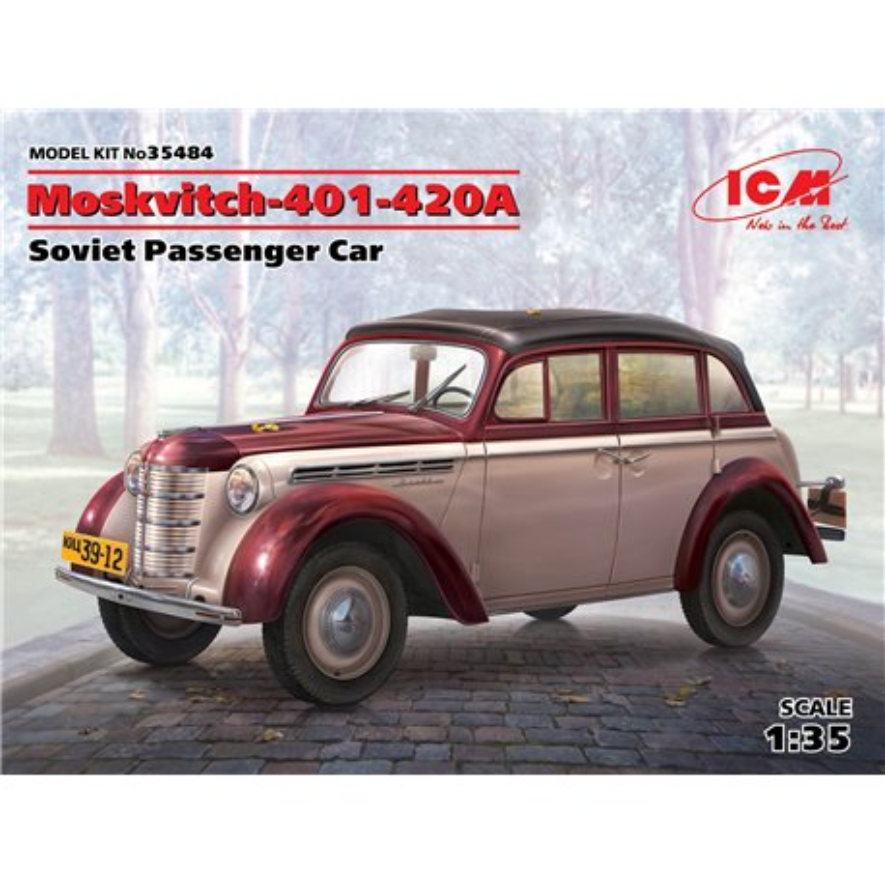 ICM 35484 1/35 Moskvitch-401-420A,Soviet Passenger Car