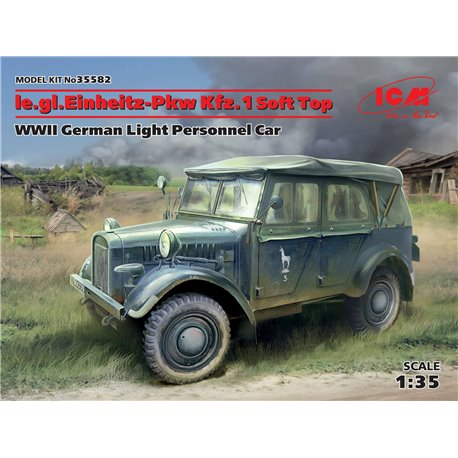 ICM 35582 1/35 le.gl.Einheitz-Pkw Kfz.1 Soft Top,WWII German Light Personnel Car