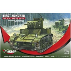 MIRAGE HOBBY 726070 1/72 M3 US Light Tank 'First Hundred'