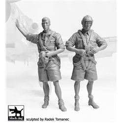 BLACK DOG F32073 German Luftwafe pilots Africa N°2 1/32