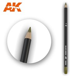 AK INTERACTIVE AK10006 WATERCOLOR PENCIL OLIVE GREEN