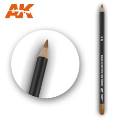 AK INTERACTIVE AK10017 Watercolor Pencil Dark Chipping For Wood