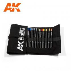 AK INTERACTIVE AK10027 Watercolor Pencil Concrete Marks