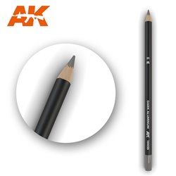 AK INTERACTIVE AK10035 Watercolor Pencil Dark Aluminum Nickel