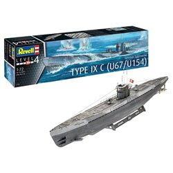 REVELL 05166 1/72 German Submarine Type IX C U67/U