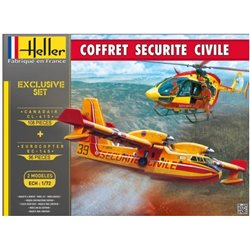HELLER 53009 1/72 Coffret Securite Civile (2 Modeles)