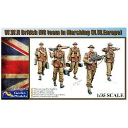 GECKO MODELS 35GM0014 1/35 W.W. II British MG Team Marching (N.W. Europe)