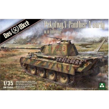 DAS WERK DW 35009 1/35 Pz.Kpfw.V Sd.Kfz. 171 Panther Ausf. A Early w/o interior