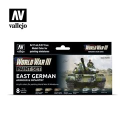 VALLEJO 70.224 WWIII East German Armour & Infantry 8x17ml