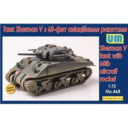 UNIMODELS 468 1/72 Sherman V tank with 60lb Aircraft Rocket