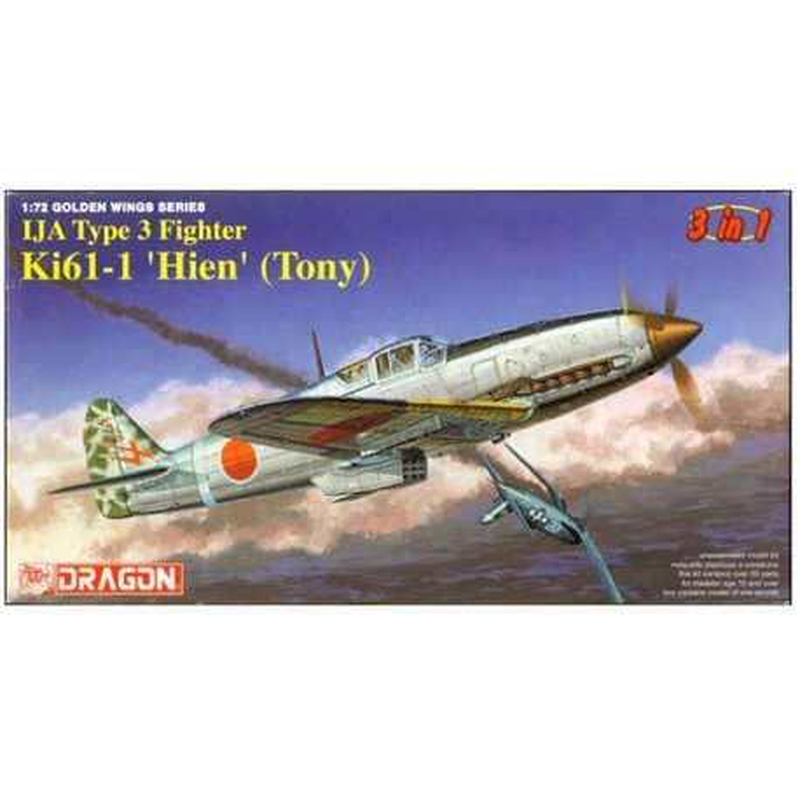 DRAGON 5028 1/72 IJA Type 3 Fighter Kawasaki Ki-61-1 'Hien' (Tony) 3 in 1