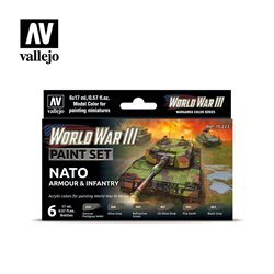 VALLEJO 70.223 WWIII NATO Armour & Infantry 6x17ml