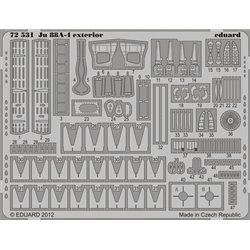 EDUARD 72531 1/72 Photo Etched Ju 88A-4 exterior For Revell