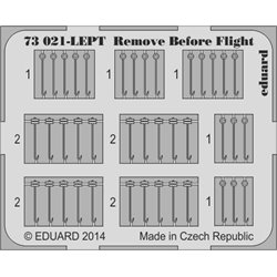EDUARD 73021 1/72 Photo Etched Remove Before Flight SUPERFABRIC