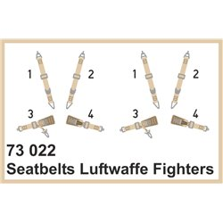 EDUARD 73022 1/72 Photo Etched Seatbelts Luftwaffe fighters SUPERFABRIC