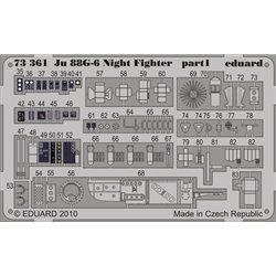 EDUARD 73361 1/72 Photo Etched Ju 88G-6 Night Fighter S. A. For Hasegawa