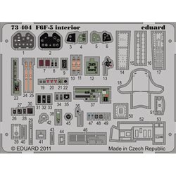 EDUARD 73404 1/72 Photo Etched F6F-5 interior S. A. For Cyber and Dragon