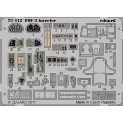 EDUARD 73412 1/72 Photo Etched F6F-3 interior S. A. For Eduard